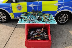 SELECTION OF WEAPONS FROM KNIFE AMNESTY TRIAL TENDRING AUGUST 2014