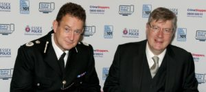 Chief Constable BJ Harrington & Police, Fire and Crime Commissioner Roger Hirst