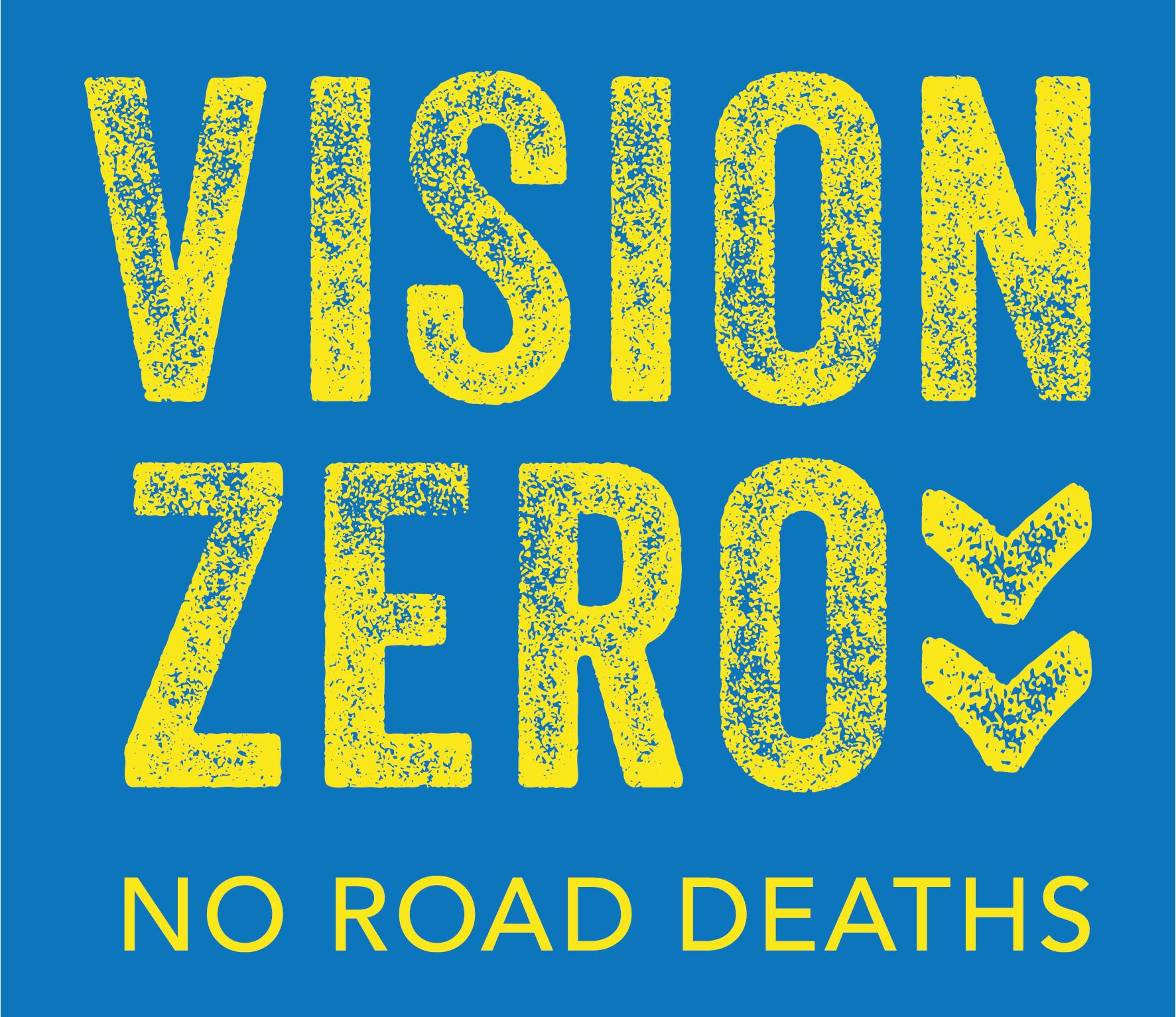 Vision Zero logo yellow on blue e1631807344559.